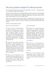 Merkblatt: Zehn goldene Regeln für Wassersportler